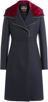 Roberto Cavalli Wool Coat with Velvet