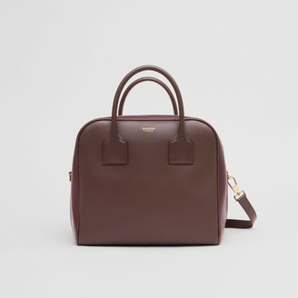 Burberry Medium Leather and Suede Cube Bag