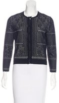 Alexander McQueen Embroidered Button-Up Cardigan