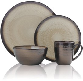 Mikasa Gourmet Basics Anastsia Cream 16 Pc Dinnerware Set