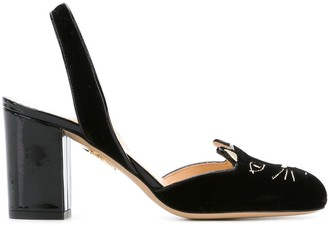 Charlotte Olympia 'Kitty' sling back pumps
