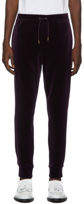 Ralph Lauren Purple Label Purple Velvet Track Pants
