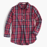 J.Crew Girls' flannel shirt in shimmer plaid