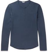 Orlebar Brown Beckett Waffle-Knit Cotton-Jersey Henley T-Shirt