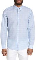 Theory Men's Sylvain Dashed Trim Fit Linen Blend Sport Shirt