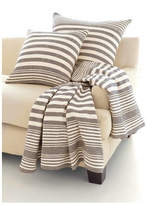 Dash & Albert Rugby Stripe Throw Color: Charcoal