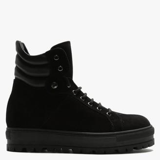 Daniel Secret Black Suede Sporty Ankle Boots