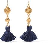 Ben-Amun Gold-tone tassel earrings