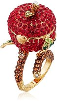 "Betsey Johnson Garden of Excess"" Faceted Stone Fruit Keepsake Ring, Size 7"