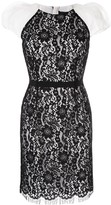 Paule Ka lace-detail fitted dress