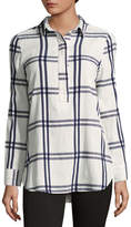 Liz Claiborne Plaid Tunic Top