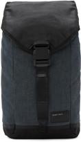 Diesel Indigo and Black D-v-denim Flap Backpack