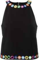 Moschino Kids mirror embroidered top