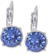Nine West Silver-Tone Crystal Stone Drop Earrings