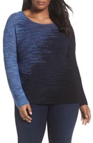 Nic+Zoe Plus Size Women's Blurred Lines Top