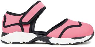 Marni Cutout Cotton-blend Neoprene Sneakers