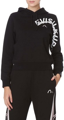 Evisu Open-back Hoodie With Tape Details