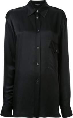Ann Demeulemeester plain longline shirt