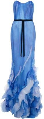 Marchesa Printed Mermaid Gown