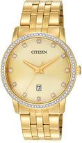 men s citizen watch gold tone shopstyle citizen quartz citizen mens crystal accent gold tone stainless steel watch bi5032 56p