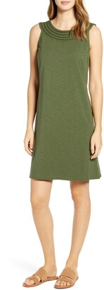 Tommy Bahama Embroidered Neck Dress