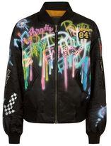Marc Jacobs Embellished Graffiti Bomber Jacket