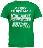 Old Glory Christmas Vacation - Shitter Was Full Green Adult T-Shirt