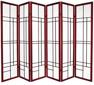 Oriental Furniture 6 ft. Tall Eudes Shoji Screen - - 6 Panels