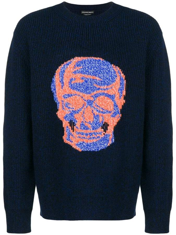 Alexander McQueen skull jacquard sweater