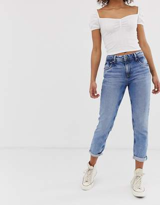 Pepe Jeans Violet straight cut jeans-Blue
