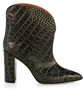d213f9a612333 Women's Croc-Embossed Leather Ankle Boots