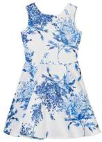 David Charles Blue and White Floral Dress