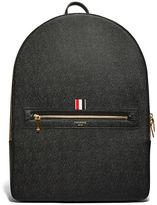 Thom Browne Men's Large Pebble Grained Backpack In Black