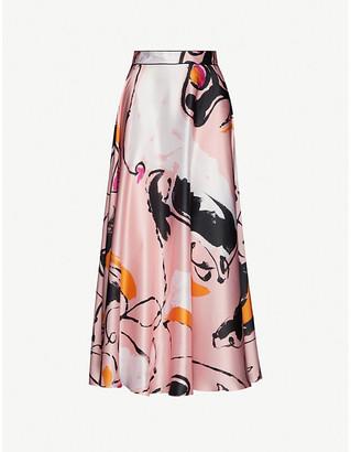 Roksanda Colvin printed silk midi skirt