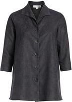 Caroline Rose Caroline Rose, Plus Size Autumn Hues Faux Suede City Jacket