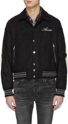 Amiri Bone sleeve button up jacket