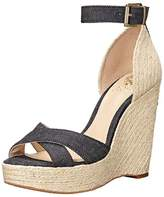 Vince Camuto Womens Maurita Leather Open Toe Casual Platform Sandals.
