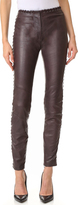 Just Cavalli Lace Trim Leather Pants