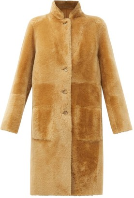 Joseph Brittany Reversible Shearling And Leather Coat - Camel