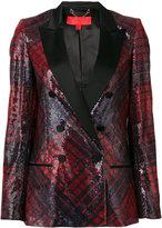 Hilfiger Collection tartan sequin blazer