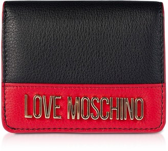 Love Moschino Color Block Genuine Leather Small Women's Wallet