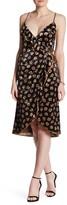 ABS by Allen Schwartz Floral Velvet Wrap Dress