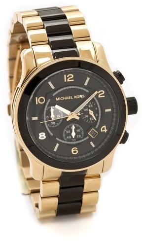 Michael Kors Two Tone Runway Watch