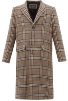 Neil Barrett Single-breasted Checked Wool-blend Overcoat - Mens - Multi