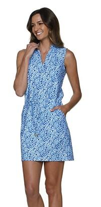 Helen Jon Bel Air Sanibel Dress (Blue/Navy) Women's Swimwear
