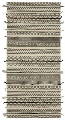 """French Connection Tomaz Cotton Gray/Beige Area Rug Rug Size: Rectangle 2'3"""" x 3'9"""""""