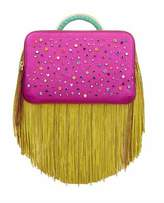 The Volon Bon-Bon Metallic Hot Pink Color block Clutch