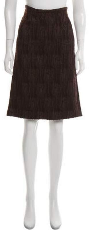 Fendi Textured Wool Skirt Brown Textured Wool Skirt