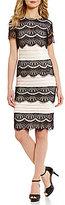 Preston & York Kayla Short Sleeve Tiered Lace Dress