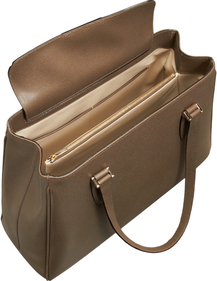 Valextra Large Tuile Top-Handle Bag